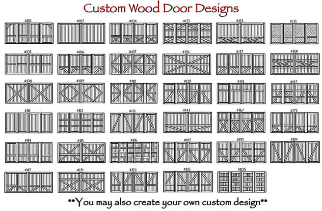 Custom Wood Doors Design Top Team Garage Door Repair